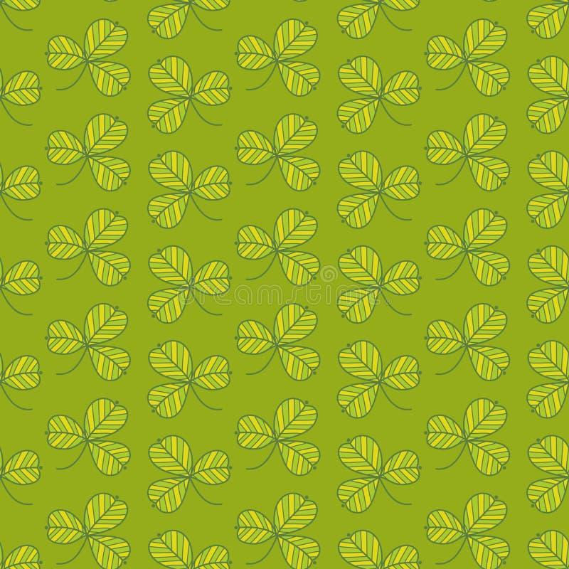 Πράσινο πρότυπο τριφυλλιού Στοκ Φωτογραφίες