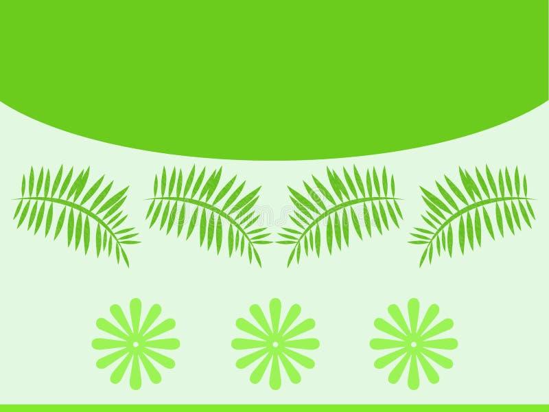 πράσινο πρότυπο φύλλων απεικόνιση αποθεμάτων