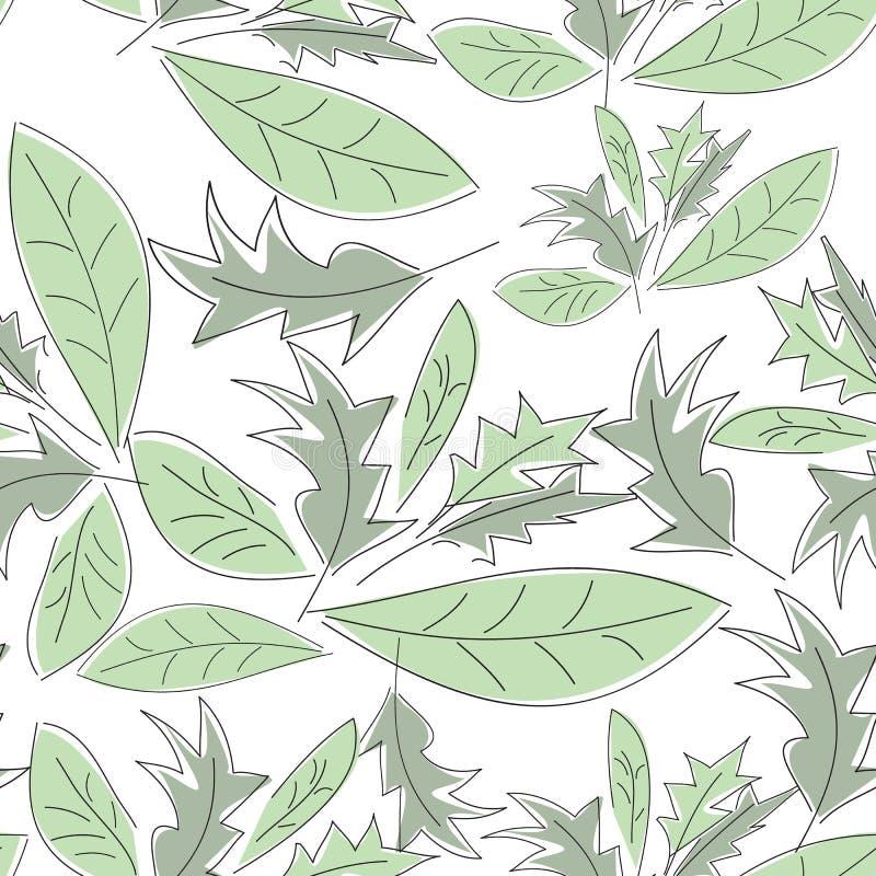 πράσινο πρότυπο φύλλων άνευ ραφής στοκ εικόνα