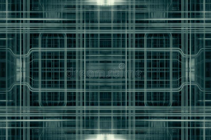 Πράσινο πλέγμα τεχνολογίας ελεύθερη απεικόνιση δικαιώματος