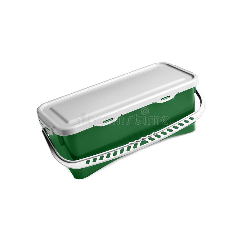 πράσινο πλαστικό εμπορε&upsilo στοκ φωτογραφία