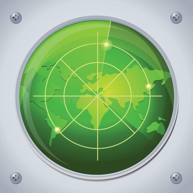 πράσινο ραντάρ χρώματος απεικόνιση αποθεμάτων
