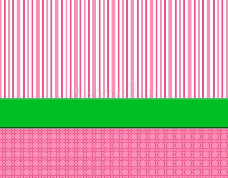 πράσινο ρόδινο ριγωτό λευκό ανασκόπησης ελεύθερη απεικόνιση δικαιώματος