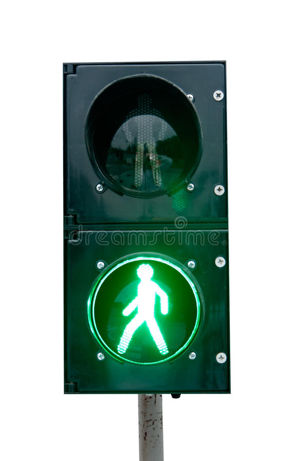 Πράσινο σήμα ενός φωτεινού σηματοδότη στοκ εικόνες με δικαίωμα ελεύθερης χρήσης
