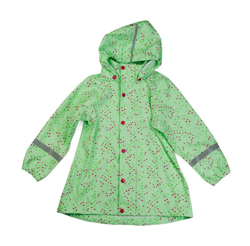 Πράσινο σακάκι παιδιών ` s Απομονώστε στο λευκό στοκ εικόνα