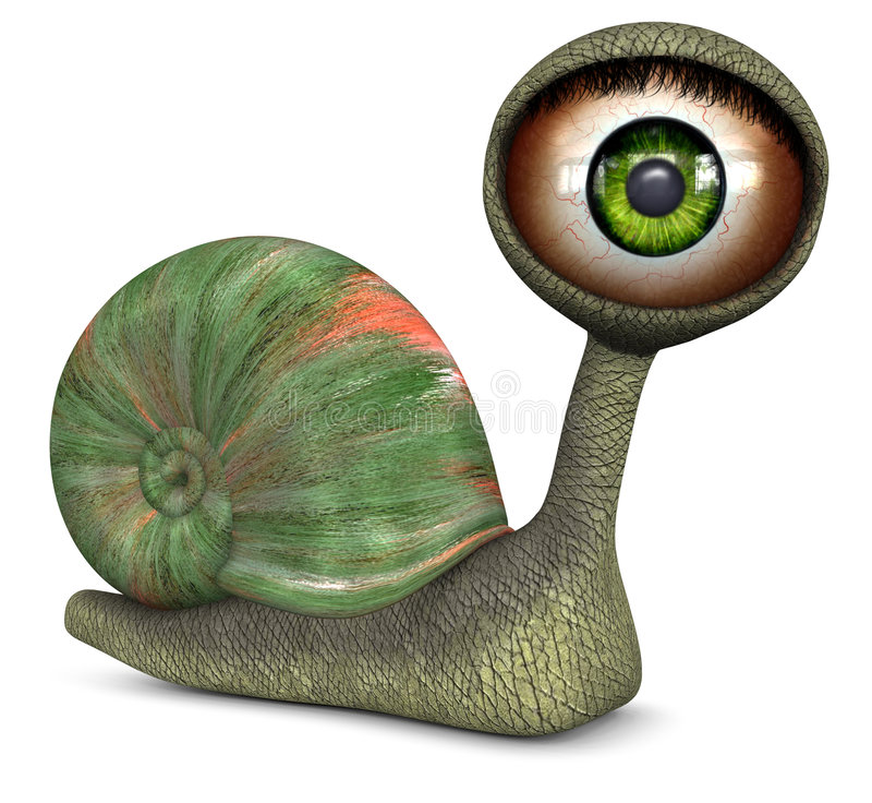 πράσινο σαλιγκάρι ματιών χ&rho ελεύθερη απεικόνιση δικαιώματος