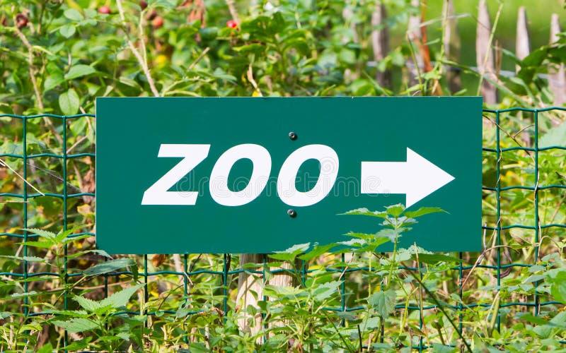 Πράσινο σημάδι zoo στοκ φωτογραφία με δικαίωμα ελεύθερης χρήσης