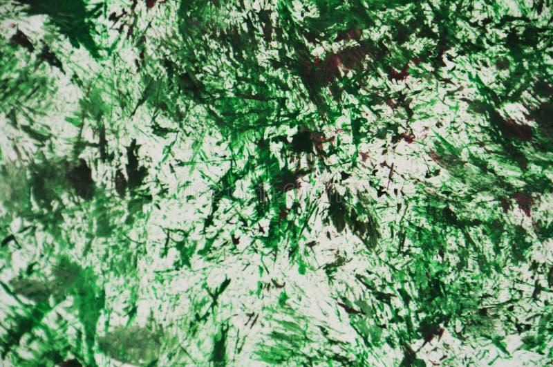 Πράσινο σκοτεινό άσπρο πορφυρό υπόβαθρο watercolor χρωμάτων, αφηρημένο υπόβαθρο ζωγραφικής watercolor ακρυλικό διανυσματική απεικόνιση