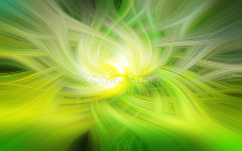 Πράσινο σπειροειδές αφηρημένο σχέδιο στοκ φωτογραφία