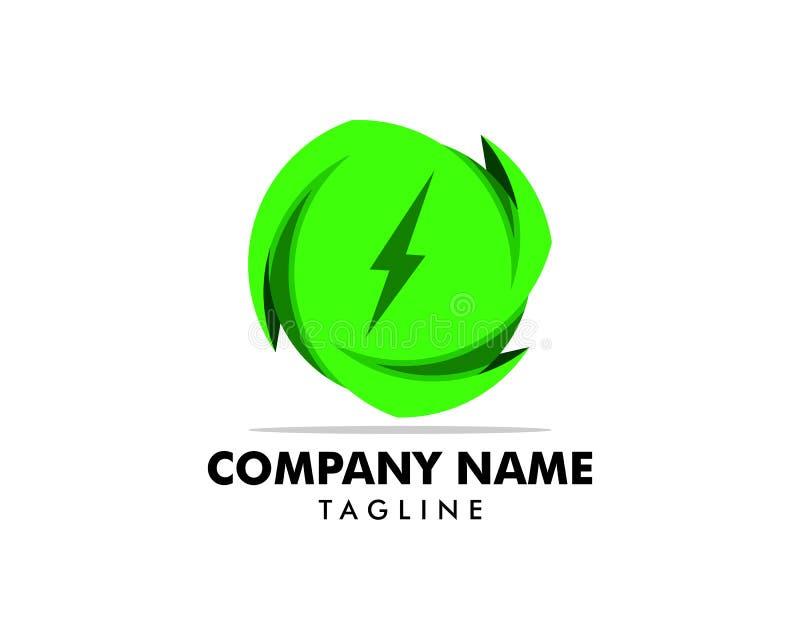 Πράσινο στοιχείο σχεδίου ενεργειακών λογότυπων δύναμης ελεύθερη απεικόνιση δικαιώματος