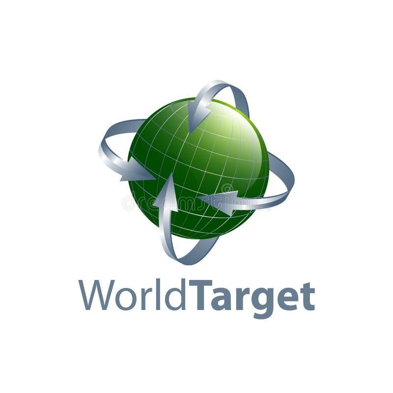 Πράσινο σχέδιο έννοιας λογότυπων βελών παγκόσμιων στόχων Γραφικό στοιχείο προτύπων συμβόλων απεικόνιση αποθεμάτων