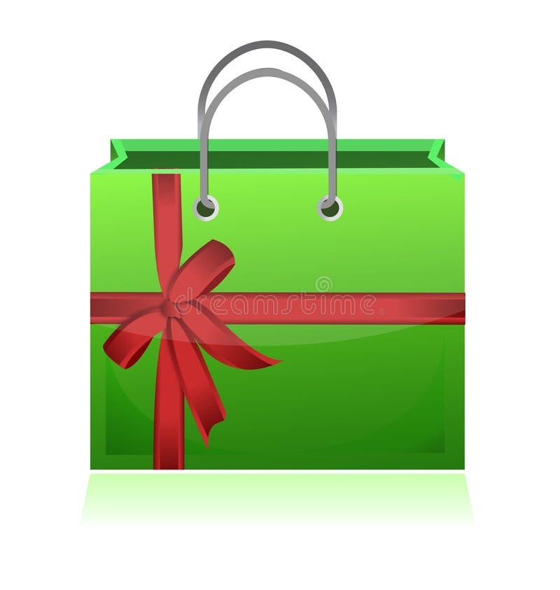 Πράσινο σχέδιο απεικόνισης τσαντών αγορών δώρων ελεύθερη απεικόνιση δικαιώματος