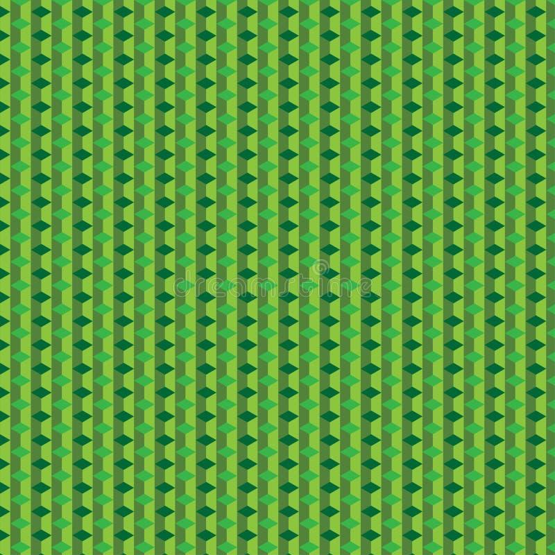 Πράσινο σχέδιο κύβων στοκ εικόνες