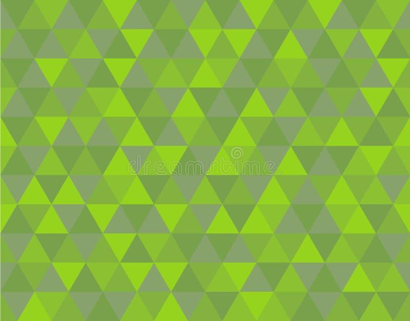 Πράσινο σχέδιο υποβάθρου τριγώνων διανυσματική απεικόνιση
