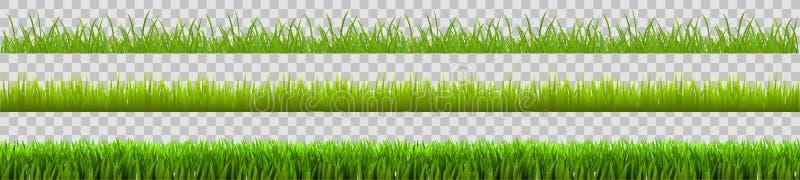 Πράσινο σύνολο χλόης, τομέας, υπόβαθρο eco φύσης - διάνυσμα στοκ φωτογραφίες
