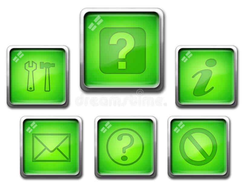 Πράσινο σύνολο εικονιδίων απεικόνιση αποθεμάτων