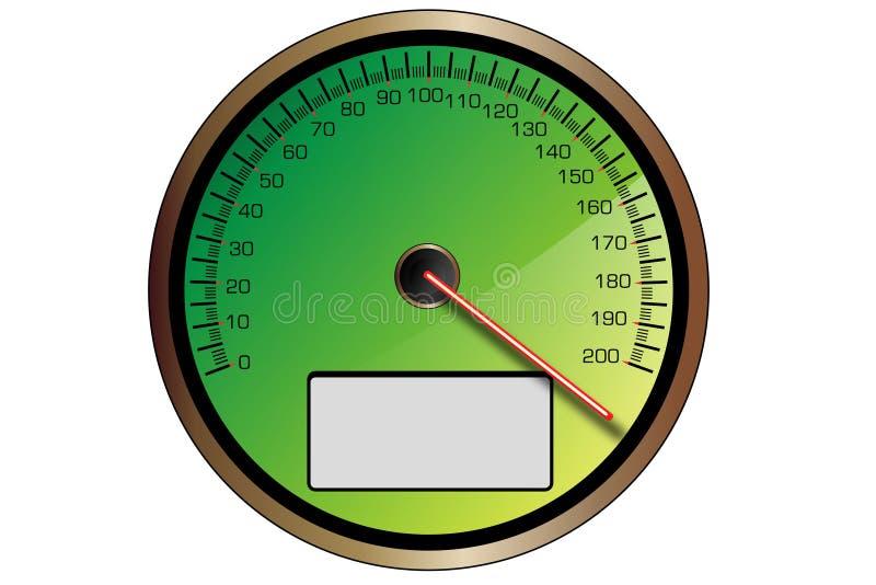 Πράσινο ταχύμετρο απεικόνιση αποθεμάτων