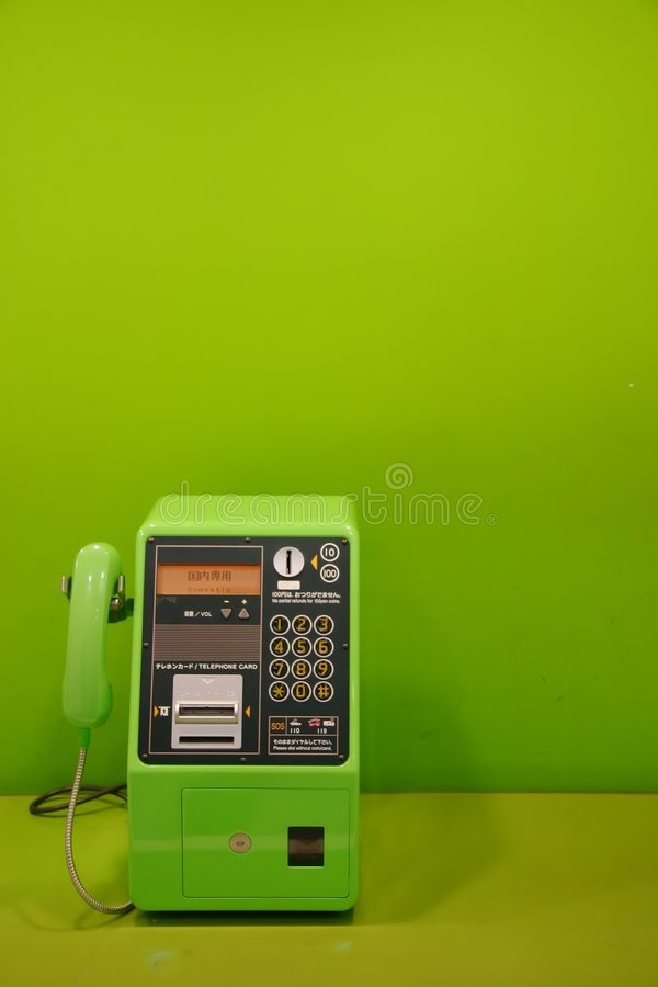 πράσινο τηλεφωνικό κοινό στοκ εικόνες