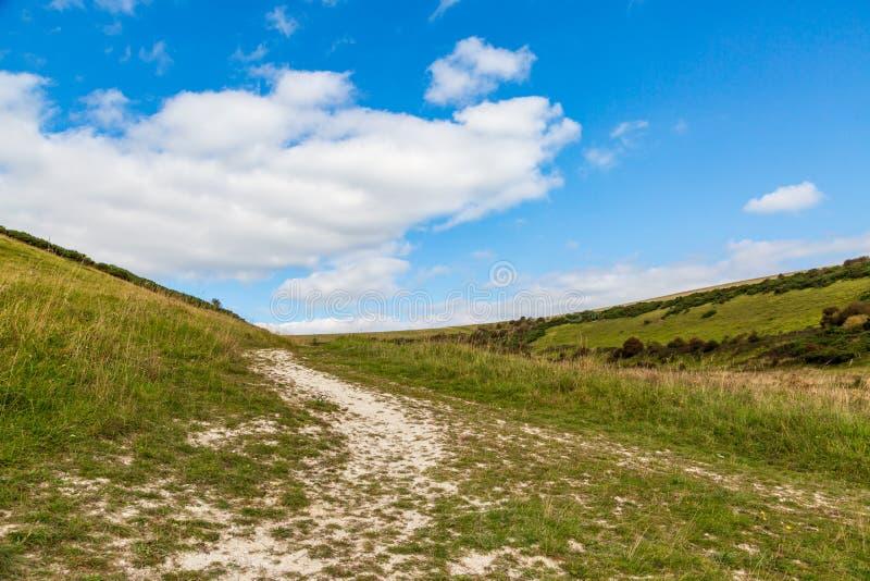 Πράσινο τοπίο του Σάσσεξ στοκ εικόνα