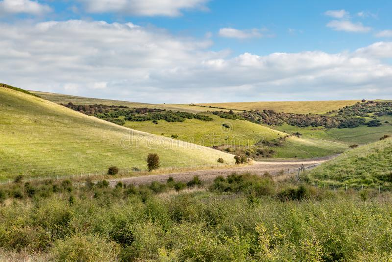 Πράσινο τοπίο του Σάσσεξ στοκ φωτογραφία