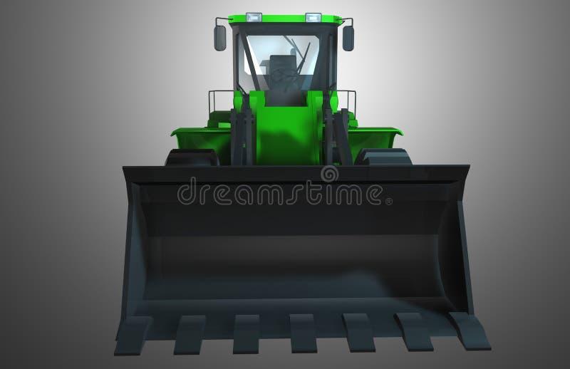 πράσινο τρακτέρ στοκ εικόνα με δικαίωμα ελεύθερης χρήσης