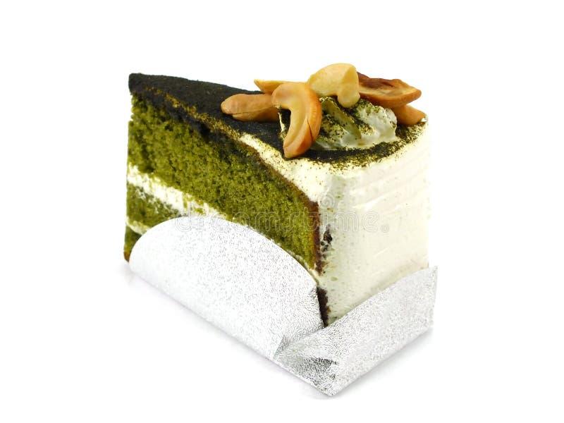 πράσινο τσάι κέικ στοκ εικόνα