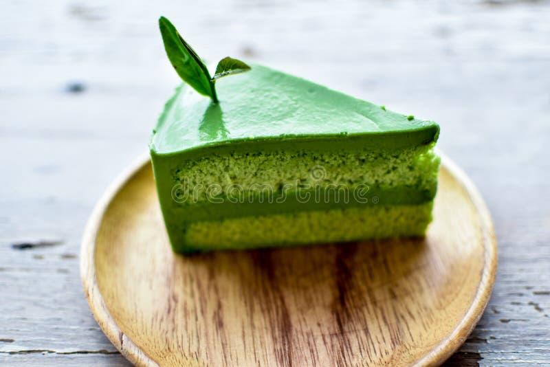 πράσινο τσάι κέικ στοκ εικόνες