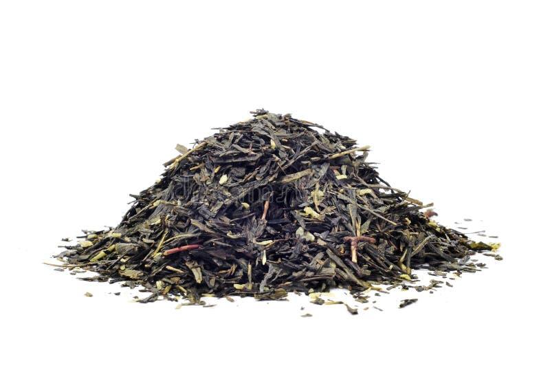 Πράσινο τσάι με την καρύδα στοκ εικόνες με δικαίωμα ελεύθερης χρήσης