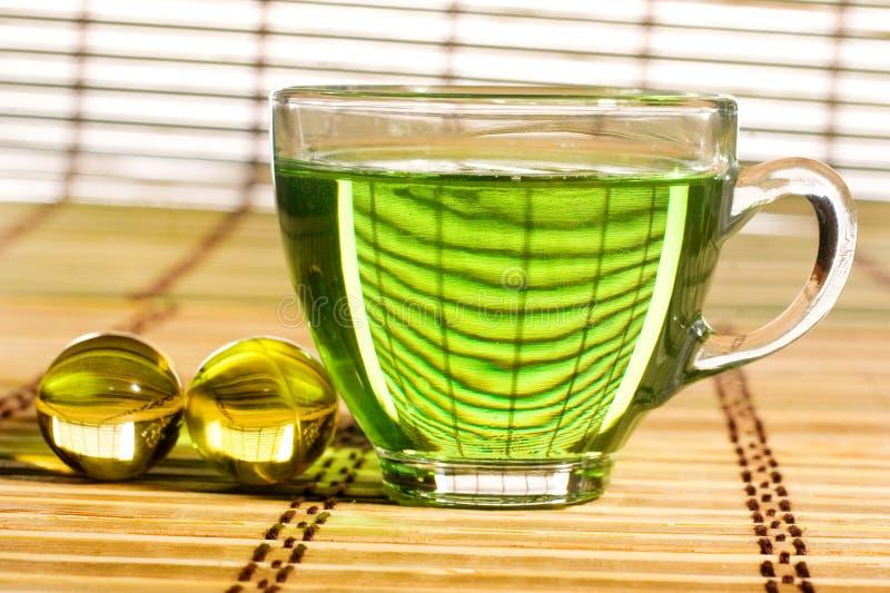 Download πράσινο τσάι στοκ εικόνα. εικόνα από closeup, ιατρική - 13185665