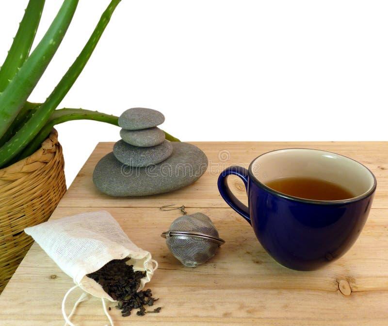 πράσινο τσάι zen στοκ εικόνα
