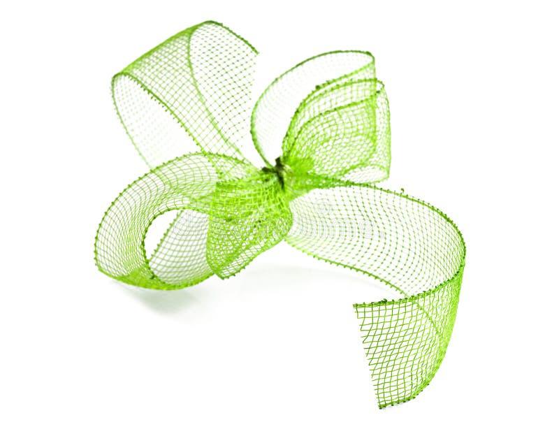 Πράσινο τόξο κορδελλών στοκ φωτογραφίες