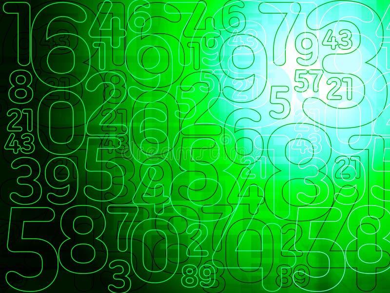Πράσινο υπόβαθρο αριθμών μητρών αφηρημένο ελεύθερη απεικόνιση δικαιώματος