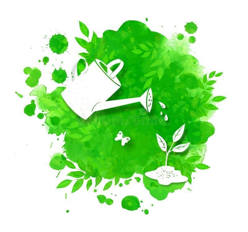 Πράσινο υπόβαθρο καλοκαιριού και άνοιξης απεικόνιση αποθεμάτων