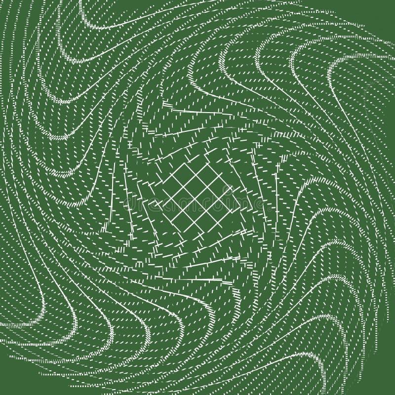 Πράσινο υπόβαθρο με τη στροφή των μορφών στοκ εικόνες με δικαίωμα ελεύθερης χρήσης