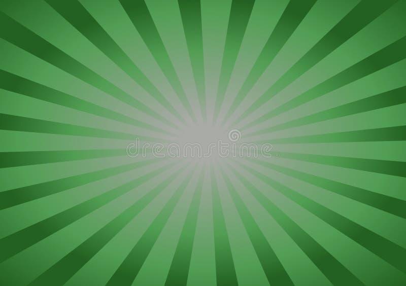 Πράσινο υπόβαθρο με τις γραμμές που τρέχουν προς το κέντρο ελεύθερη απεικόνιση δικαιώματος