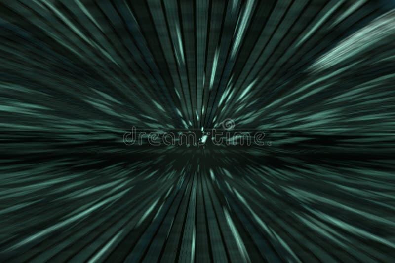 Πράσινο υπόβαθρο μητρών με την κίνηση ταχύτητας, ακτινωτή θαμπάδα στοκ φωτογραφίες με δικαίωμα ελεύθερης χρήσης