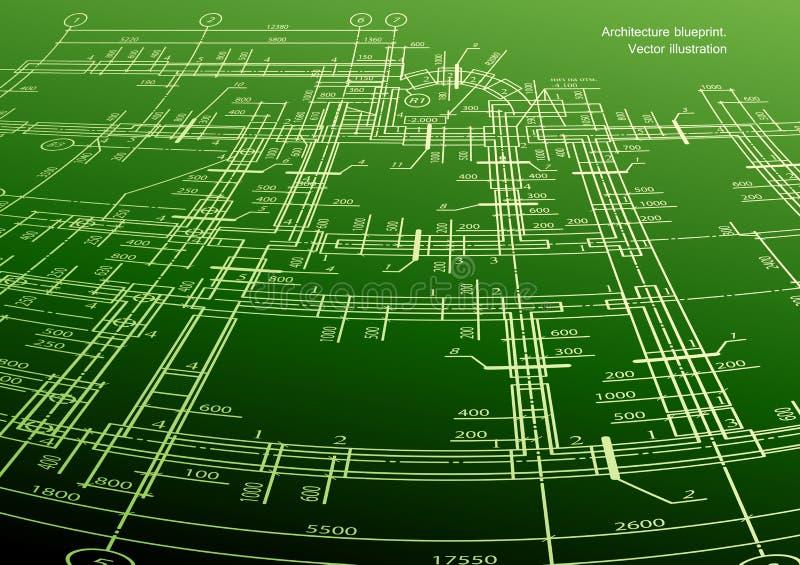 Πράσινο υπόβαθρο σχεδίων σπιτιών αρχιτεκτονικής. Διάνυσμα διανυσματική απεικόνιση