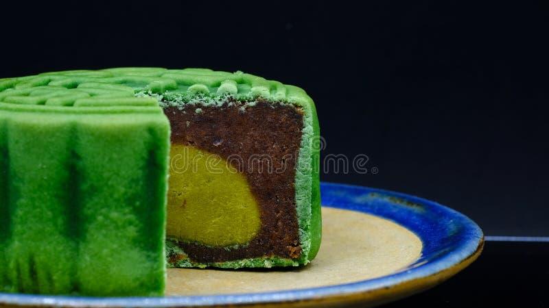 Πράσινο φεγγάρι-κέικ τσαγιού στοκ φωτογραφία με δικαίωμα ελεύθερης χρήσης