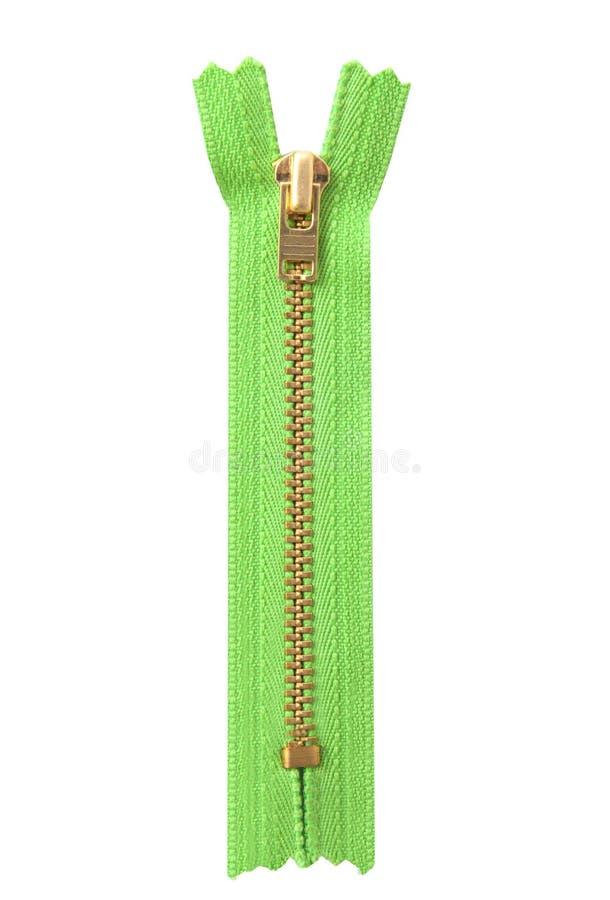 Πράσινο φερμουάρ στοκ φωτογραφία με δικαίωμα ελεύθερης χρήσης