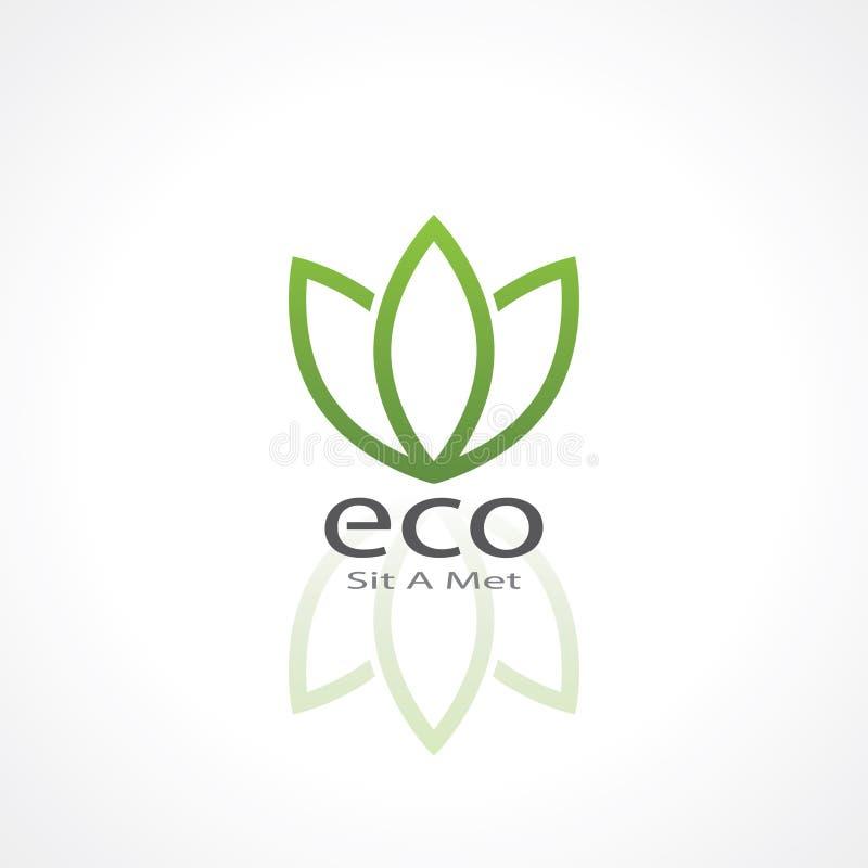 πράσινο φυσικό διάνυσμα συμβόλων οικολογίας απεικόνιση αποθεμάτων