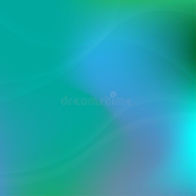 Πράσινο φως και μπλε αφηρημένο υπόβαθρο ελεύθερη απεικόνιση δικαιώματος