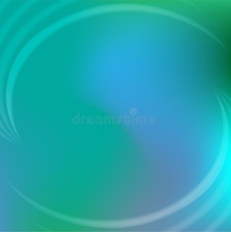 Πράσινο φως και μπλε αφηρημένο υπόβαθρο διανυσματική απεικόνιση