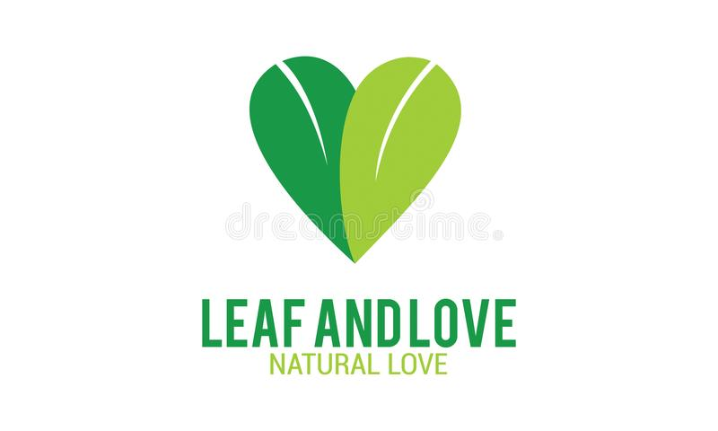 Πράσινο φύλλο και φυσική αγάπη στοκ εικόνες