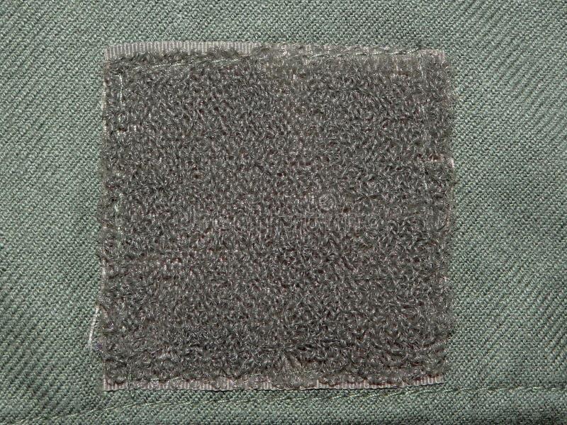 Πράσινο ύφασμα με Velcro στοκ φωτογραφία