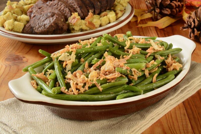 Πράσινο casserole φασολιών στοκ φωτογραφία
