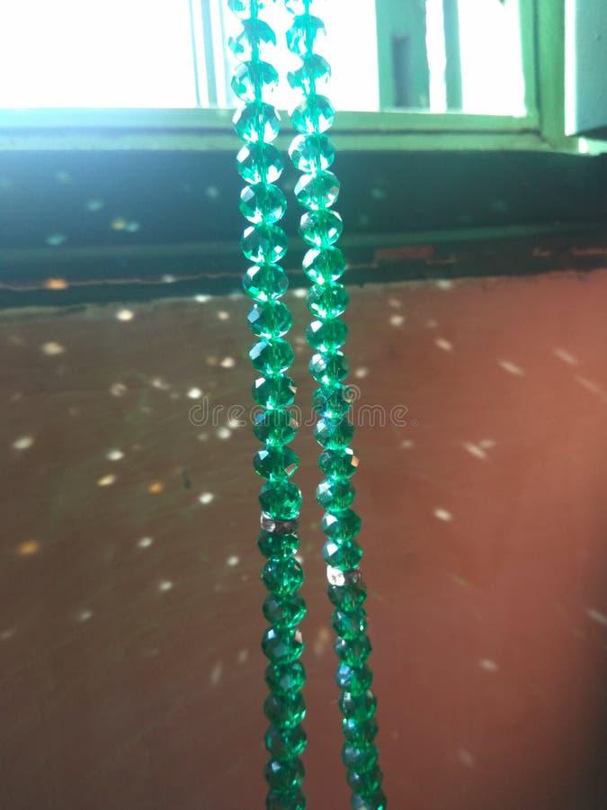 Πράσινο christal tasbeeh κοσμημάτων στοκ εικόνες