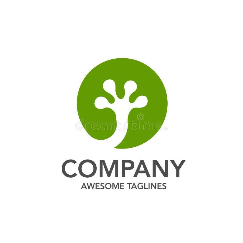 πράσινο gecko κύκλων ή διάνυσμα λογότυπων ποδιών σαυρών απεικόνιση αποθεμάτων