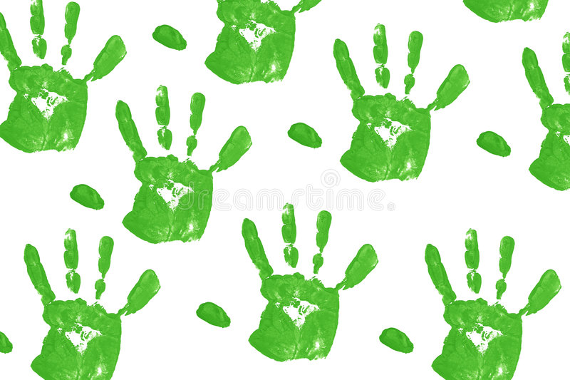 πράσινο handprint ελεύθερη απεικόνιση δικαιώματος