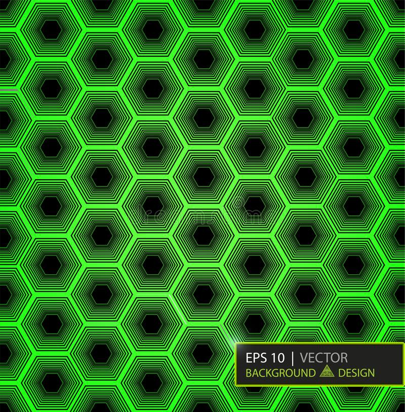 Πράσινο hexagon σχέδιο ινών άνθρακα Ανασκόπηση και σύσταση διάνυσμα ασπίδων απεικόνισης 10 eps διανυσματική απεικόνιση
