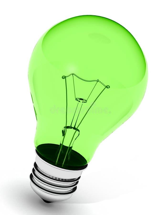 πράσινο lightbulb τέλειο διανυσματική απεικόνιση